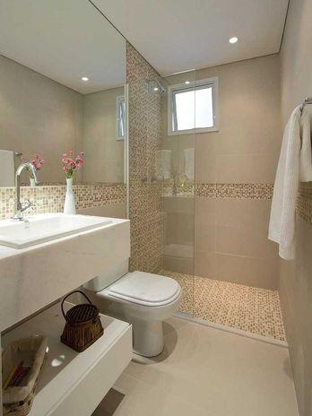 banheiro com porcelanato 4 BANHEIRO SIMPLES acabamentos que deixam o banheiro moderno
