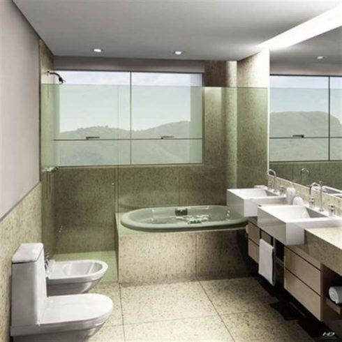banheiro simples com banheira 4 490x490 BANHEIRO SIMPLES acabamentos que deixam o banheiro moderno