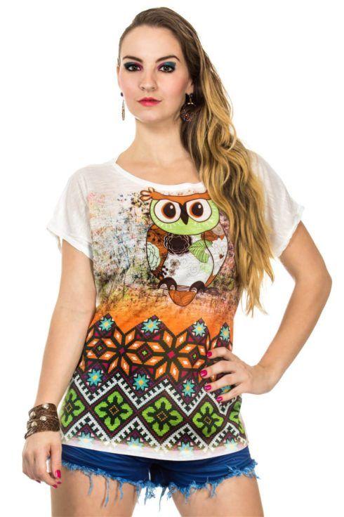blusas femininas t shirt 1 490x736 Modelos de BLUSAS femininas que estão na moda