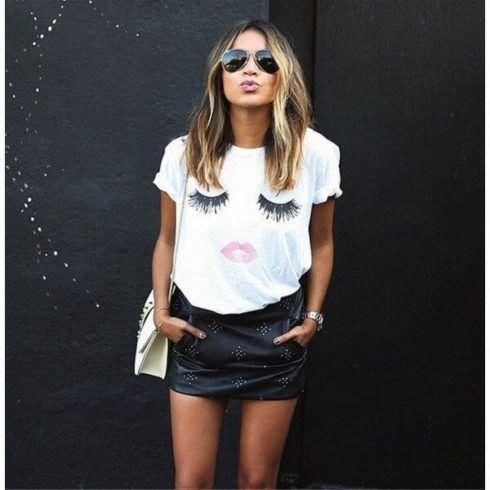 blusas femininas t shirt 2 490x490 Modelos de BLUSAS femininas que estão na moda