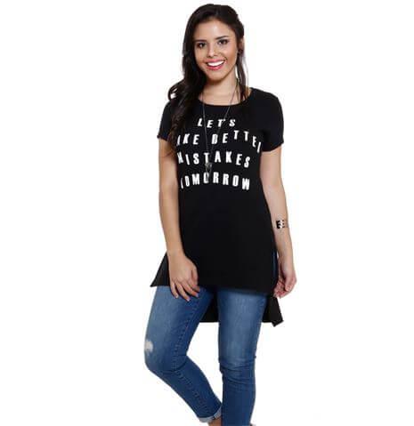 blusas femininas t shirt 3 Modelos de BLUSAS femininas que estão na moda