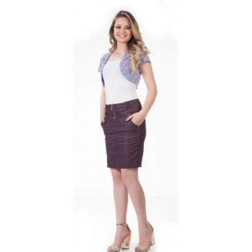 bolero com saia 1 490x490 Como Usar BOLERO com vestido, saia, ou calça ( Looks e fotos )