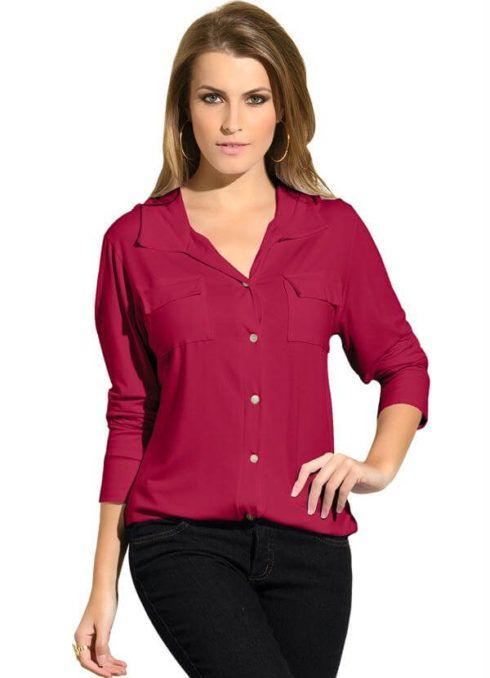 camisa de botao feminina 2 490x678 Modelos de BLUSAS femininas que estão na moda
