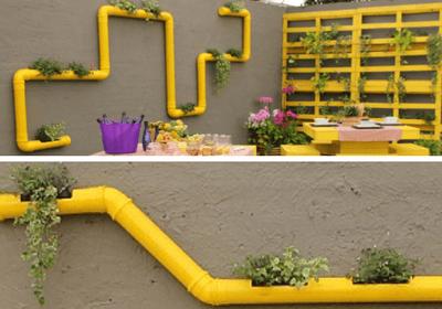horta vertical com cano de pvc 2 Horta VERTICAL para casa ou apartamento ( tipos, como fazer )