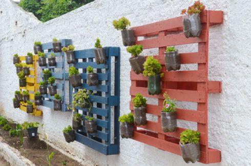 horta vertical de garrafa pet 5 490x324 Horta VERTICAL para casa ou apartamento ( tipos, como fazer )