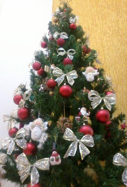 imagem 13 Arvores de NATAL decoradas para o seu lar