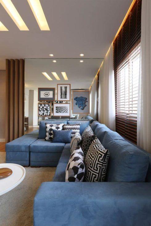 imagem 22 12 490x735 Sala Com SOFÁ AZUL veja os modelos e como decorar o ambiente