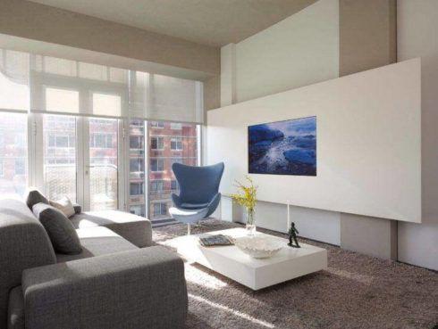 imagem 28 1 490x369 Sala Com SOFÁ AZUL veja os modelos e como decorar o ambiente