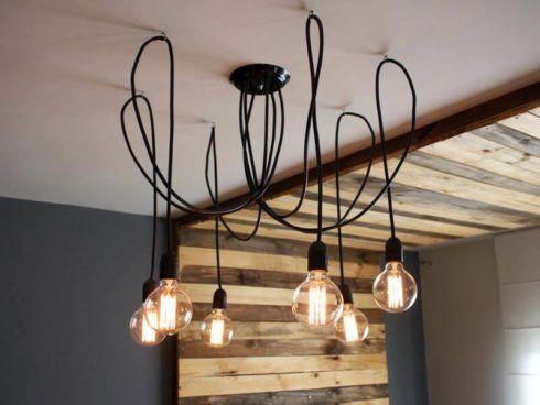 luminaria industrial para sala 2 490x368 Tipos de Iluminação e LUMINÁRIAS para sala e para casa