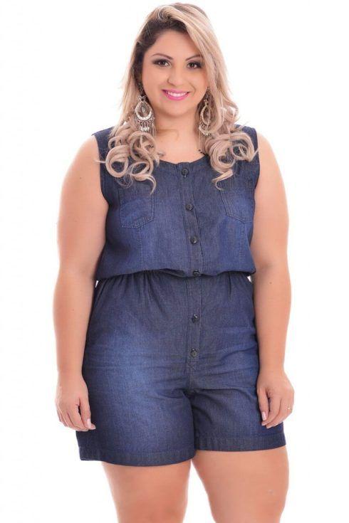 macaquinho jeans plus size 1 490x735 MACAQUINHO JEANS modelitos super chic