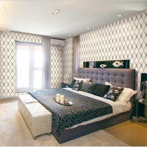 papel de parede geometrico para quarto casal 1 490x490 Papel de parede para QUARTO DE CASAL veja as cores