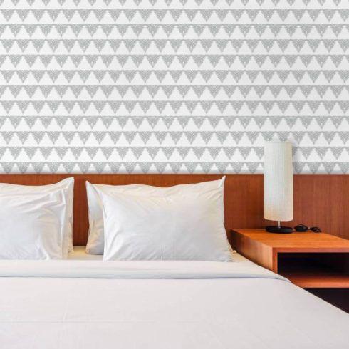 papel de parede geometrico para quarto casal 2 490x490 Papel de parede para QUARTO DE CASAL veja as cores