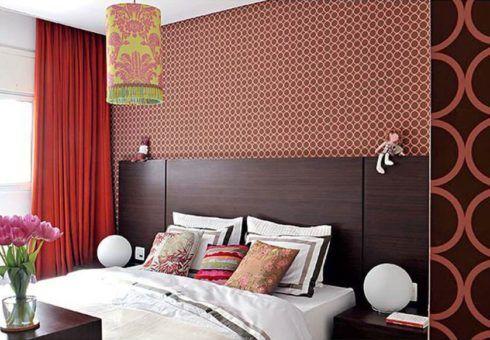 papel de parede geometrico para quarto casal 4 490x340 Papel de parede para QUARTO DE CASAL veja as cores