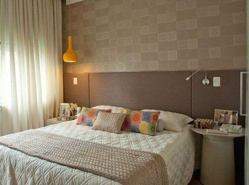 papel de parede para quarto casal bege 1 490x364 Papel de parede para QUARTO DE CASAL veja as cores