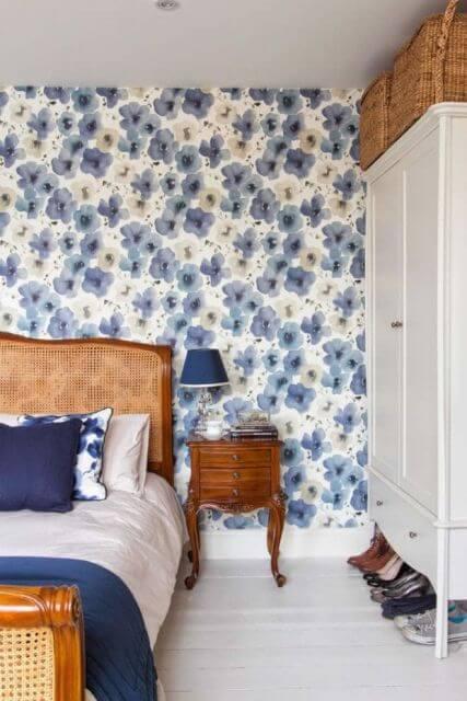 papel de parede para quarto de casal com flores 1 Papel de parede para QUARTO DE CASAL veja as cores