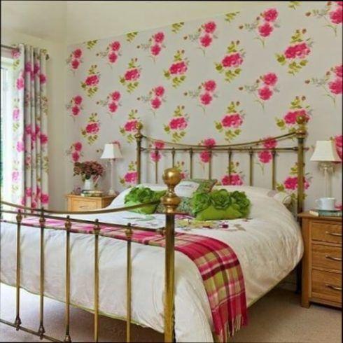 papel de parede para quarto de casal com flores 3 490x490 Papel de parede para QUARTO DE CASAL veja as cores