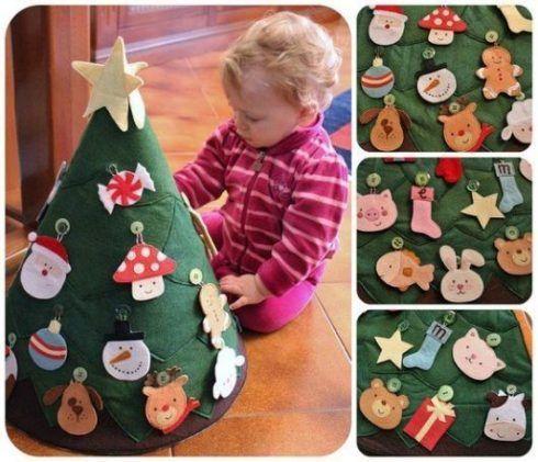 pequenas 490x421 Arvores de NATAL decoradas para o seu lar