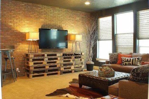 rack de pallet 2 490x328 RACK PARA TV modelos para sala de estar, confira
