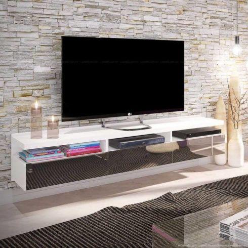 rack de tv suspenso 1 490x490 RACK PARA TV modelos para sala de estar, confira