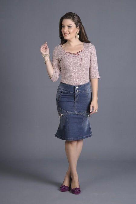 saias jeans Saias EVANGÉLICAS confira os modelos e como usar