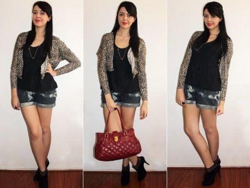 shorts com bolero 1 490x368 Como Usar BOLERO com vestido, saia, ou calça ( Looks e fotos )