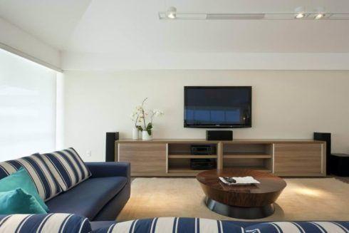 sofa azul de canto 4 490x327 Sala Com SOFÁ AZUL veja os modelos e como decorar o ambiente