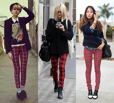 calca feminina com estampa xadrez 2 Como usar estampa XADREZ conheça os looks