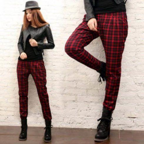 calca feminina com estampa xadrez 3 490x490 Como usar estampa XADREZ conheça os looks