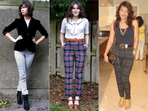 calca feminina com estampa xadrez 4 490x368 Como usar estampa XADREZ conheça os looks