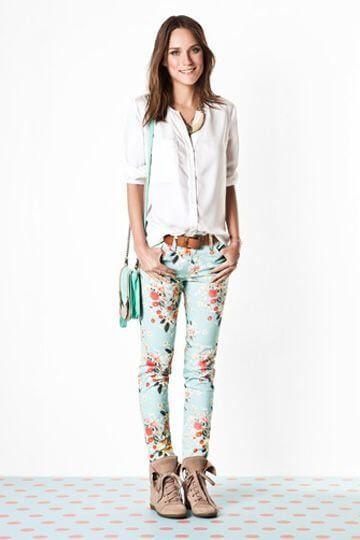 calca jeans estampada 3 Calça ESTAMPADA modelos e Como usar