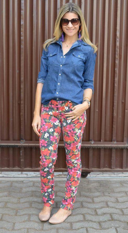 calca jeans estampada 490x891 Calça ESTAMPADA modelos e Como usar