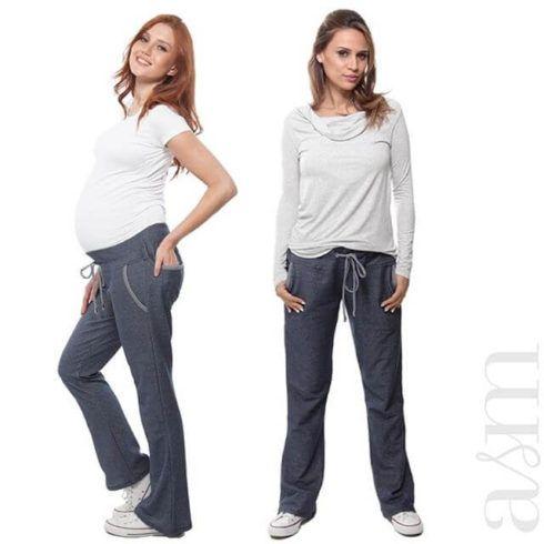 calca moletom para gestante 490x490 Calça para GESTANTE como escolher, como usar