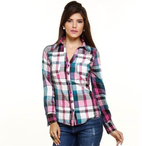 camisa feminina xadrez 1 Como usar estampa XADREZ conheça os looks