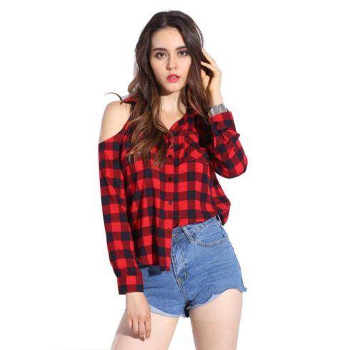 camisa feminina xadrez 2 490x490 Como usar estampa XADREZ conheça os looks