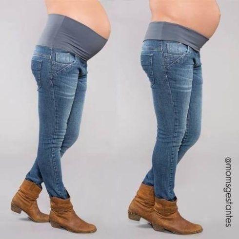 como usar jeans para gestante 490x491 Calça para GESTANTE como escolher, como usar