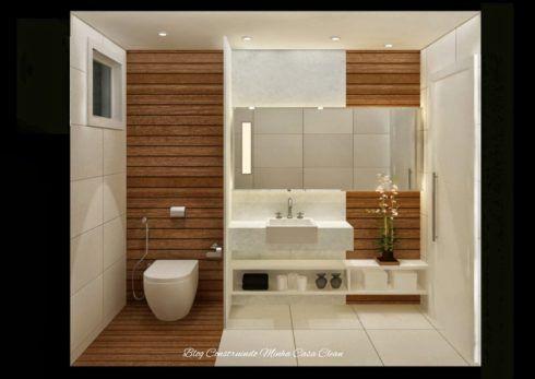 deck no banheiro 490x347 PAREDE DE MADEIRA, revestimento bonito que dá certo