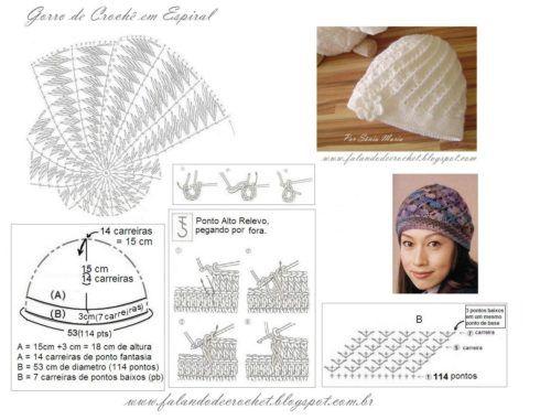 imagem 4 11 490x381 Como usar Cachecol com CAPUZ e Gráficos de Crochê