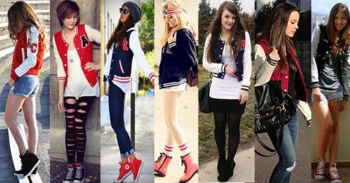 jaquetas college femininas 1 490x257 Como usar JAQUETA COLLEGE moda jovem (Veja com o que combina)