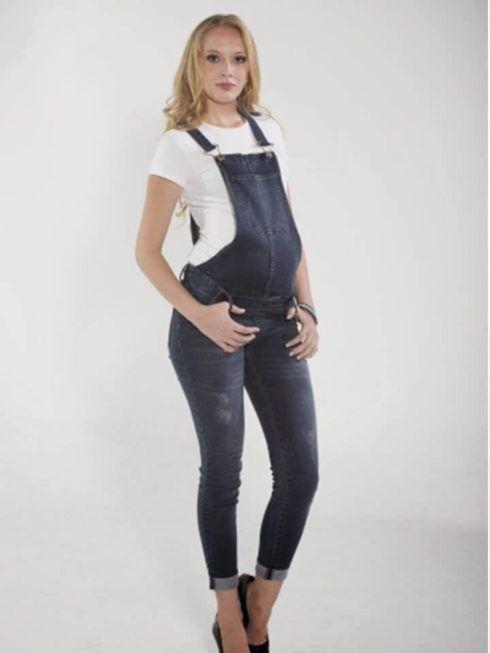 macacao jeans para gestante 1 490x653 Macacão para GESTANTE DA moda conheça modelos