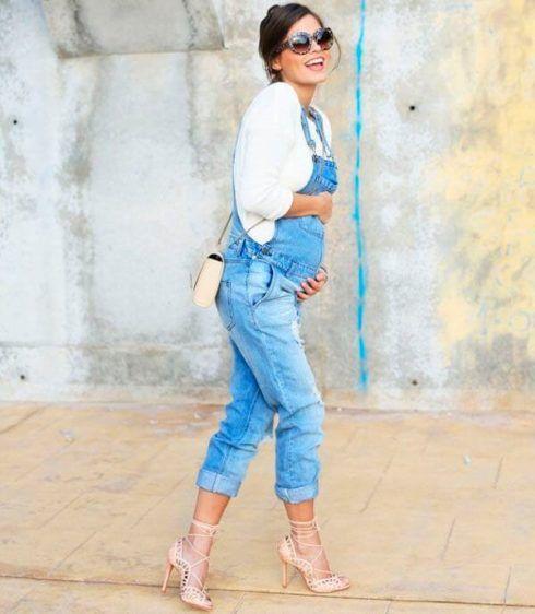 macacao jeans para gestante 4 490x562 Macacão para GESTANTE DA moda conheça modelos