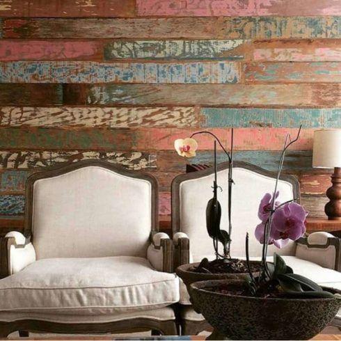 madeira de demolicao na parede 490x490 PAREDE DE MADEIRA, revestimento bonito que dá certo