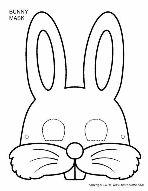 mascara do coelho da pascoa 2 490x634 Desenhos da PÁSCOA para colorir (Máscara, ovos, Mensagens)