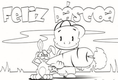 mensagem feliz pascoa 490x333 Desenhos da PÁSCOA para colorir (Máscara, ovos, Mensagens)