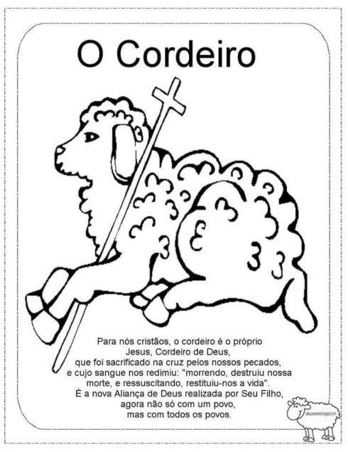 mensagens de pascoa 490x636 Desenhos da PÁSCOA para colorir (Máscara, ovos, Mensagens)