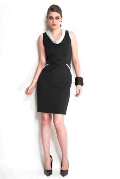 vestido curto tubinho preto e branco socialzinho Modelos VESTIDO SOCIAL CURTO como usar