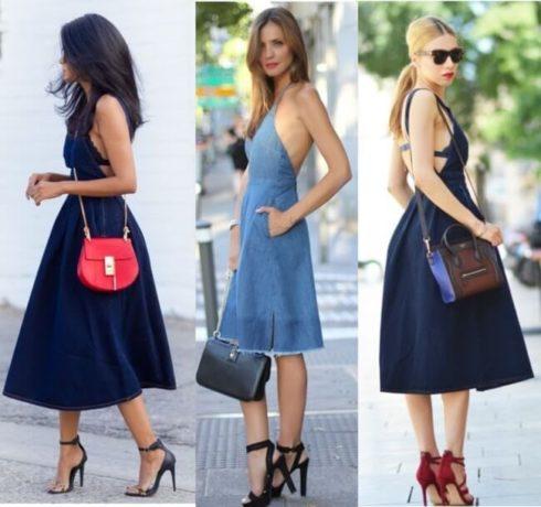vestido jeans social 3 490x460 Modelos VESTIDO SOCIAL CURTO como usar