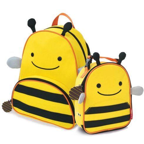 mochila abelhinha com lancheira 490x490 Mochila infantil com Lancheira (Para meninos e Meninas)