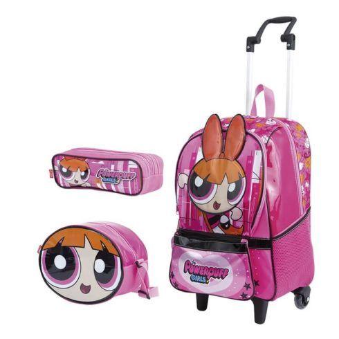mochila com lancheira de meninia rosa 490x490 Mochila infantil com Lancheira (Para meninos e Meninas)