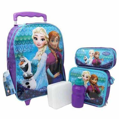 mochila com lancheira frozen 490x490 Mochila infantil com Lancheira (Para meninos e Meninas)