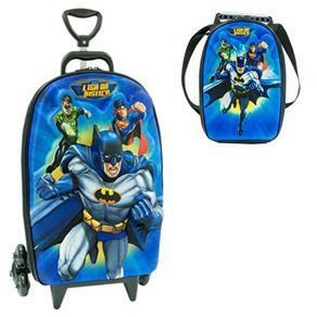 mochila com lancheira para menino do batiman Mochila infantil com Lancheira (Para meninos e Meninas)